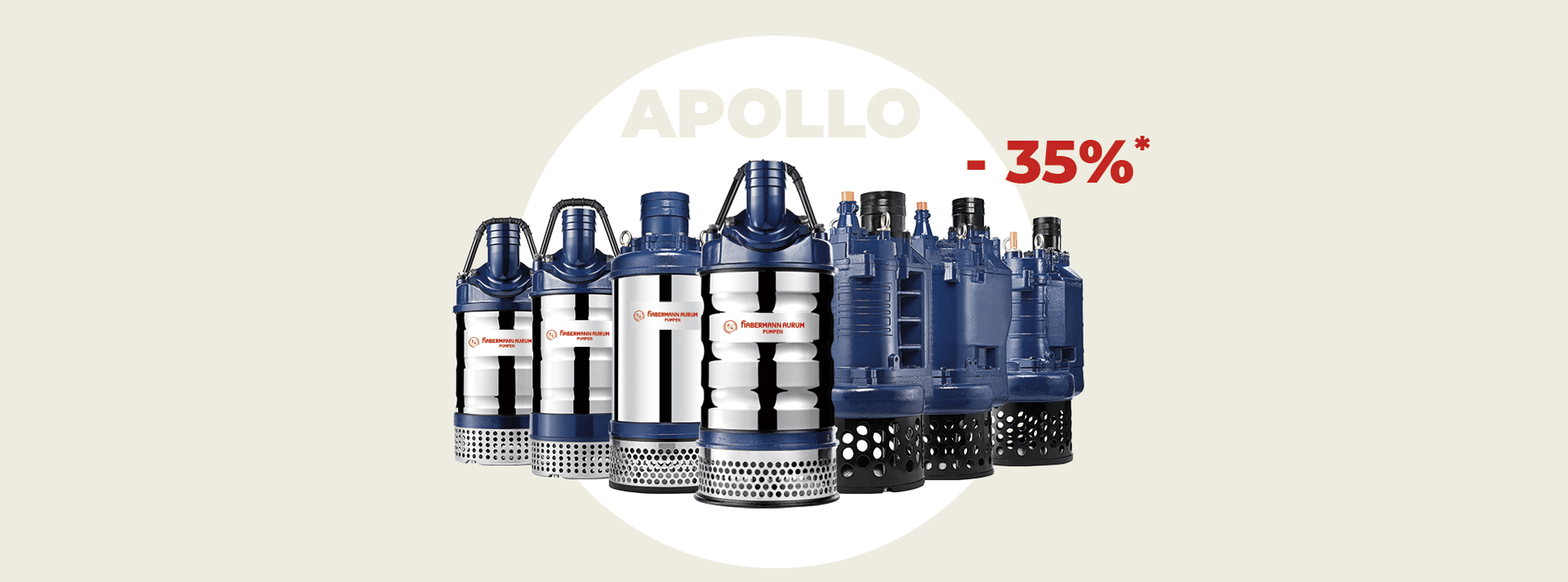 Up to 35% discount by buying five Apollo-Pumps.